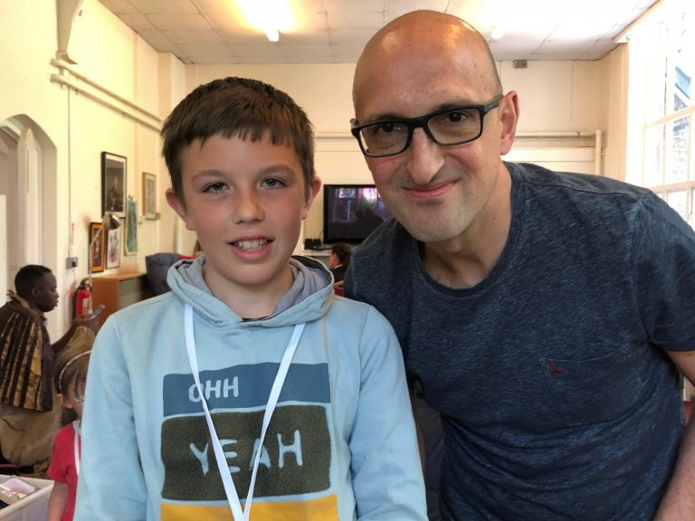 Matthew Syed and fan