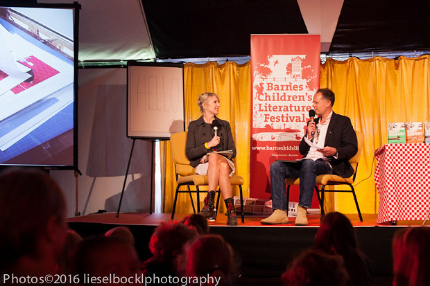 Lauren Child with David Mackintosh