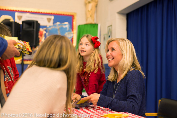 Lucy Hawking book signing