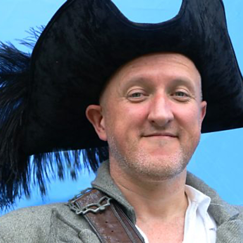 Jonny Duddle with pirate hat