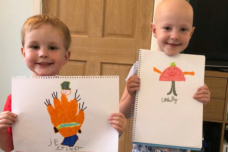 children's drawings at home