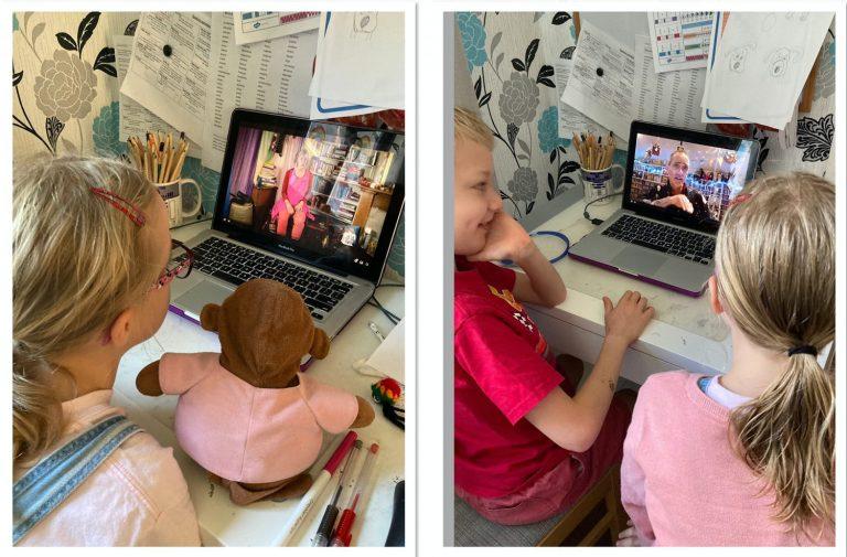 children watching barnes festival at school