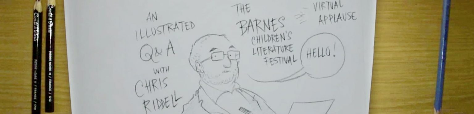 Chris Riddell's drawing of the festival