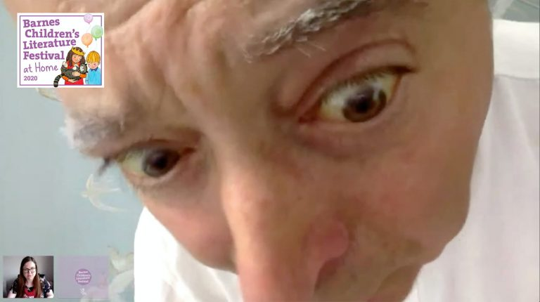 Frank Cottrell-Boyce really close up