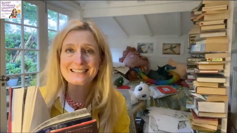 Cressida Cowell reading her book
