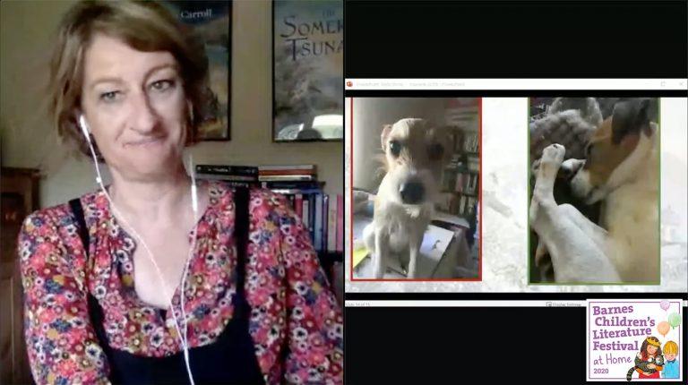 Emma Carroll and her dog