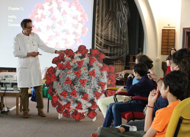 professor solomons covid show at barnes festival