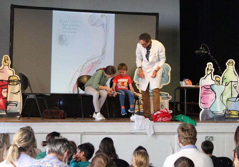 professor solomon at barnes festival