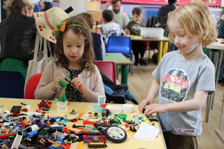 children enjoying lego workshop