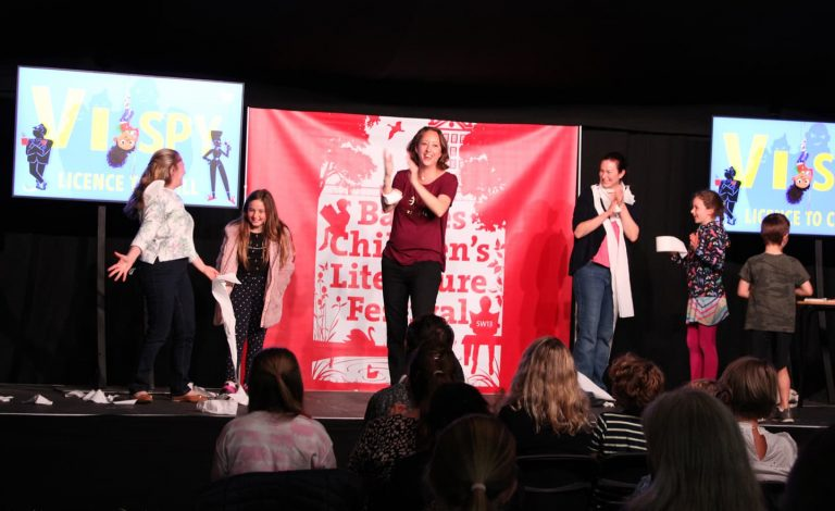 maz evans on stage at barnes frestival