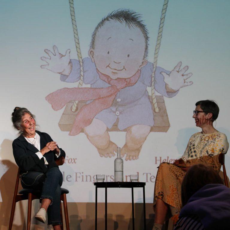 Helen Oxenbury talking at barnes festival