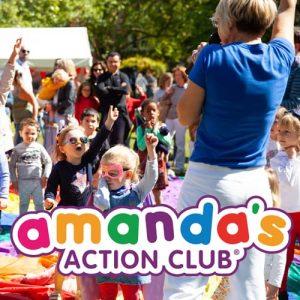 Amanda action club with children
