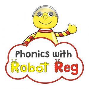 PHONICS WITH ROBOT REG logo