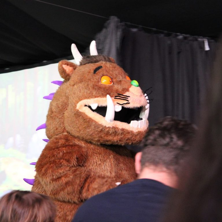The Gruffalo character performing