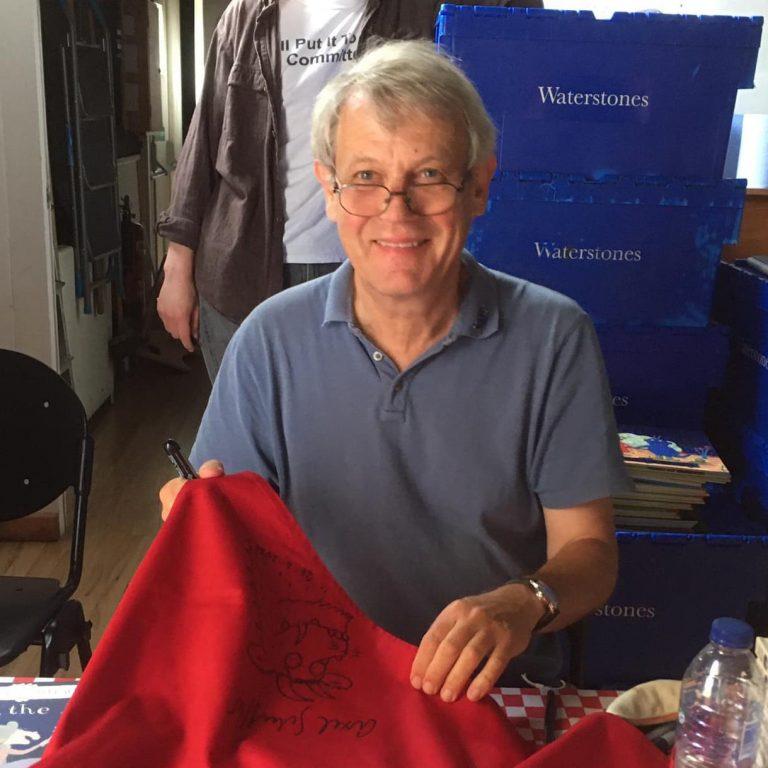 axel scheffler signing barnes festival apron