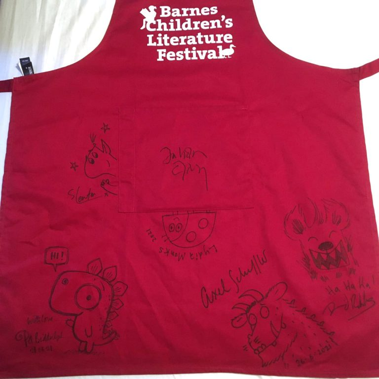 barnes fetival apron with signatures